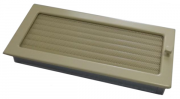 Каминная вентиляционная решетка Enbra прямоугольная с жалюзи кремовая 17х37 см