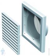 *Решетка вентиляционная Vents МВ 100 Вс (154х154) коричневая, сетка от насекомых, фланец D100