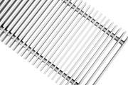 Декоративная решетка Techno 150х1000/С Алюминиевая Серебряная
