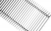 Декоративная решетка Techno 300х1500/С Алюминиевая Серебряная