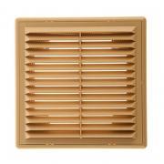 Решетка вентиляционная вытяжная 150*150 с рамкой (беж)