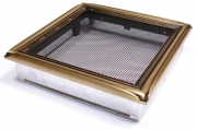 Каминная вентиляционная решетка Enbra Рустик червленое золото 22х22см
