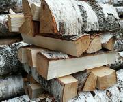 Дрова березовые каминные, упаковка сетка 12-14 кг