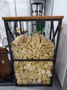Аксессуар для электрокаминов Safamaster Стеллаж для дров Массив (KDM910)