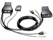 KVM-переключатель D-link KVM-221 (на 2 ПК, USB)