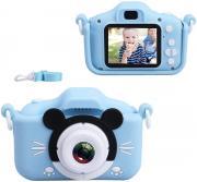 Детский цифровой фотоаппарат Микки Маус (голубой) + подарок