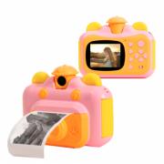 Детский фотоаппарат Leilam с функцией печати фото (Розовый)
