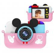Фотоаппарат Микки Маус ,розовый +защитный чехол