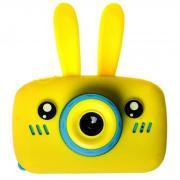 Детский цифровой фотоаппарат Зайка обновленный 2021 года, желтый