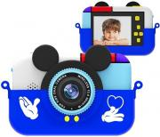 Фотоаппарат Микки Маус синий +защитный чехол