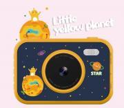 Детский фотоаппарат Let time stop цифровой S5 3,5 дюйма с защитой глаз, 2 HD камеры, mp3-плеером (Желтый)