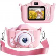Детский цифровой фотоаппарат Кошечка, розовый