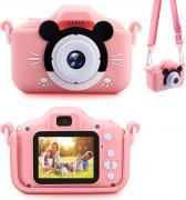 Детский цифровой фотоаппарат Микки Маус (розовый) + подарок