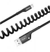 Кабель USB Baseus Fish Eye Spring для iPod, iPhone, iPad to Lightning CALSR-01 (Черный)