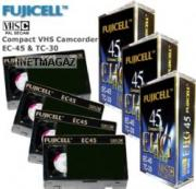 Видеокассета VHS-C Fujicell EC-45 Camcoder Video Tapes