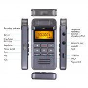 Профессиональный цифровой диктофон Музыкальный проигрыватель MP3 Запись с