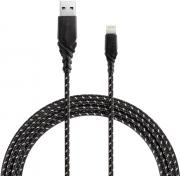 Дата-кабель Energea NyloGlitz USB-Lightning Apple MFI 1,5m Black