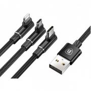 Кабель для iPhone Micro Type-C Baseus MVP 3-in-1 Mobile game Cable Black (черный)