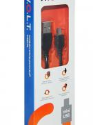 Кабель W.O.L.T. USB папа/MiniUSB папа 1м черный (CAB-102)