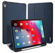 Синий чехол-книжка для iPad Pro 12.9 2018 Dux Ducis Domo Series with Pencil Slot