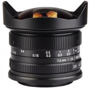 Объектив 7Artisans 7.5mm f/2.8 Black для Canon EF-M