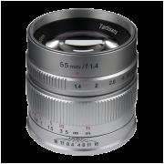 Объектив 7Artisans 55mm F1.4 Sony (E Mount) Серебро