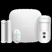 Стартовый комплект системы безопасности с фотоверификацией тревог и поддержкой LTE Ajax StarterKit Cam Plus (white)