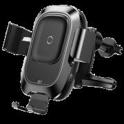 Автодержатель с беспроводной зарядкой Baseus Smart Vehicle Bracket Wireless Charger Чёрный