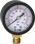 """TIM Манометр радиальный TIM, 6 Бар, класс точности 1,5, 1/4""""н, МР-У"""
