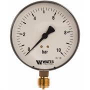 """Watts манометр радиальный f+r250 0-10 бар, корпус 100mm 1/2"""" 10008078"""