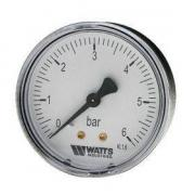 Манометр Watts 1/4 (Горизонтальный выход) (6 bar)