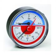2 шт. Термоманометр заднее подключение 0- 6 ATM.0-120C (ICMA Италия)