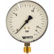 """Манометр watts f+r250 радиальный, 0-16 бар, корпус 100 mm, 1/2"""" 10008079"""