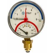 Термоманометр радиальный stout rg008q0c184i6f
