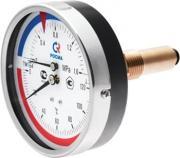 "Термоманометр ТМТБ-31Т 80мм с задним подключением 1/2"", 10 бар 0-120*"