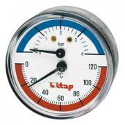 Термоманометр осевое подключение 1/2 Itap art 485 120С 4бар