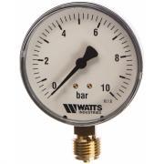 Манометр watts f+r200 радиальный 0-10bar, корпус 80mm 10007793