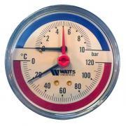 Термоманометр Watts 1/2 аксиальный 120С 10бар