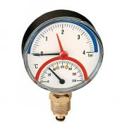 """CALEFFI Термоманометр радиальный 1/2""""; ?80мм; 6 бар; 120°С"""