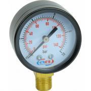 Манометр радиальный 10 атм, 50 мм aquamotor ar112008