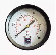 """Манометр с задним подключением 1/4"""" (60/10 bar) 0240.010 Officine Rigamonti (OR)"""