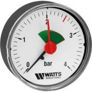 Аксиальный манометр watts f+r101 0-4 bar, корпус 50 мм 10008089