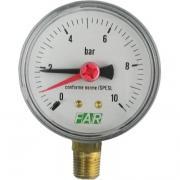 "Манометр FAR 1/4"", радиальное соед., 0-10 бар, - 20-80 C, 63 мм FA 2500 R10"