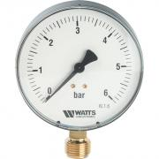 "Watts F+R200(MDR) 100/ 6x1/2"" Манометр радиальный 100мм, 0-6 бар 10008077(03.22.206)(M1-100 0-6BAR)"