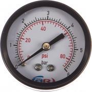 Манометр аксиальный 6 атм, 50 мм aquamotor ar112009