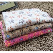 Кошка Собака Чистка Полотенца Животные Одеяла Footprint / Paw Двусторонний Складной Кофейный Розовый Розовый Для домашних животных