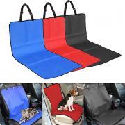 Кошка Собака Чехол для сидения автомобиля Животные Одеяла Однотонный В клетку Водонепроницаемость Складной Серый Красный Синий Для домашних животных