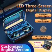 F9 Беспроводные наушники Bluetooth наушники с 2000mAh Зарядка Корпус светодиодный дисплей TWS Беспроводная гарнитура наушников