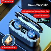 TWS True Беспроводная гарнитура Bluetooth 5.0 Earbuds Hifi наушники Басс Спорт Наушники Сильная батарея