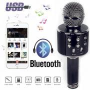 2WS-858 Беспроводной Bluetooth Караоке портативный микрофон USB KTV Игрок Микрофон Динамик запись